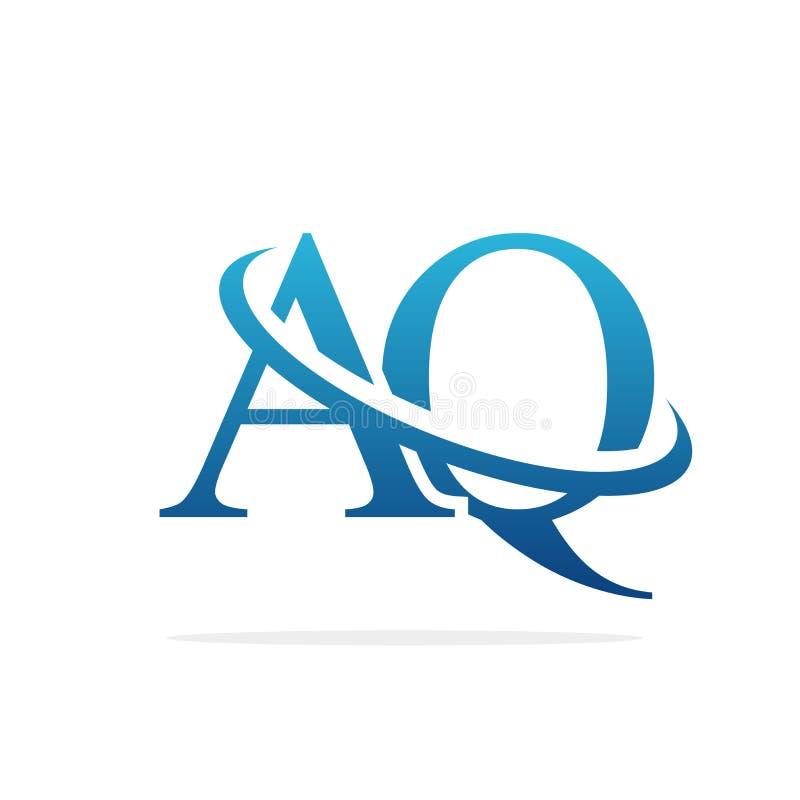AQ het creatieve vectorart. van het embleemontwerp royalty-vrije illustratie