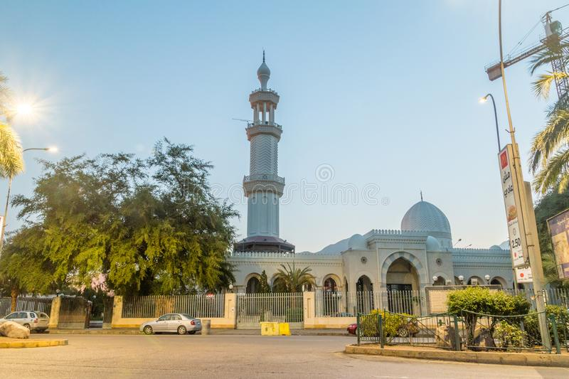 Sharif Hussein bin Ali Mosque in the early morning royalty free stock photo