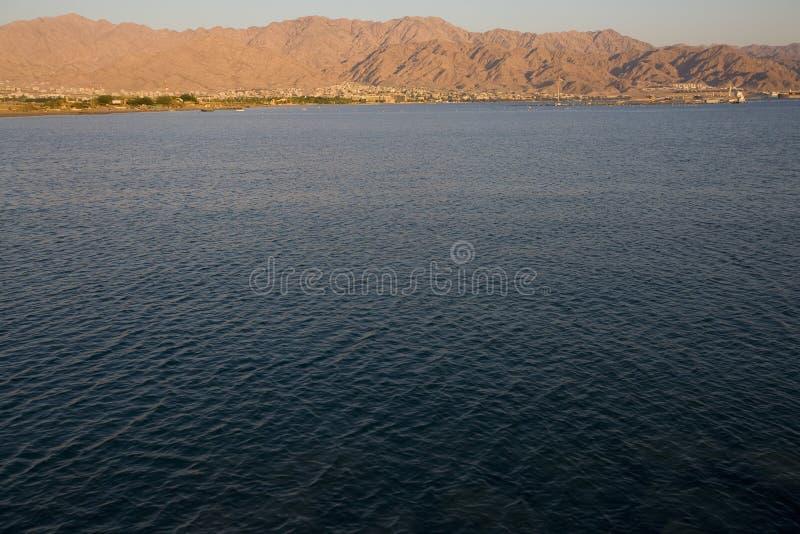 aqaba jordan rött hav fotografering för bildbyråer