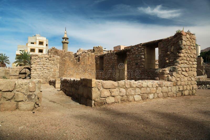 Aqaba kasztel, Mamluk kasztel lub Aqaba fort, Jordania obrazy stock