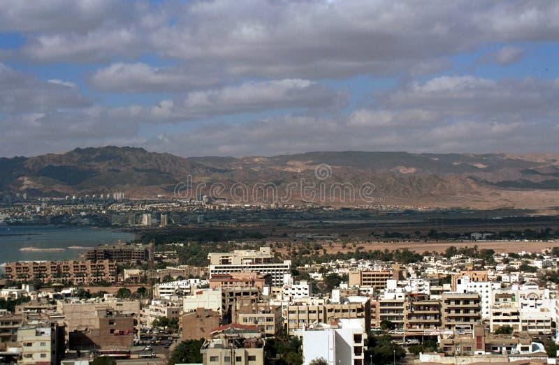 Aqaba y Eilat, Jordania imagenes de archivo