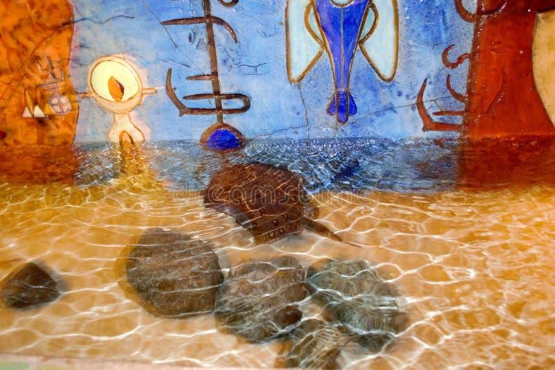 Aquário do fresco da parede de Atlantis imagem de stock royalty free