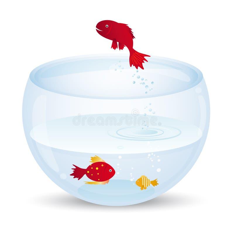 Aquário e peixes ilustração royalty free