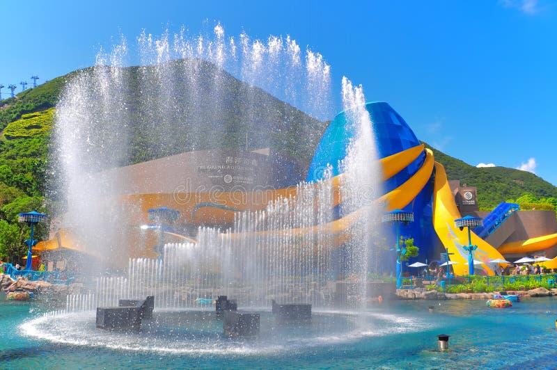 aquário grande do parque do oceano, Hong Kong imagem de stock royalty free