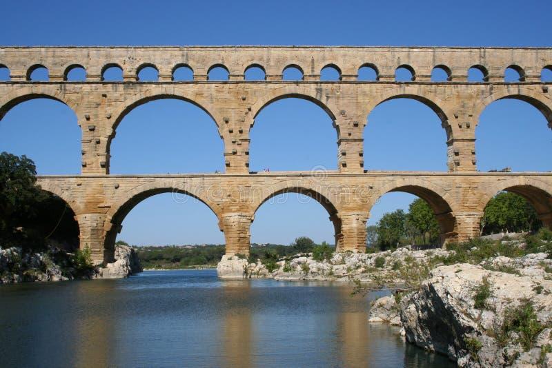 Aquädukt Pont DU Gard stockbilder