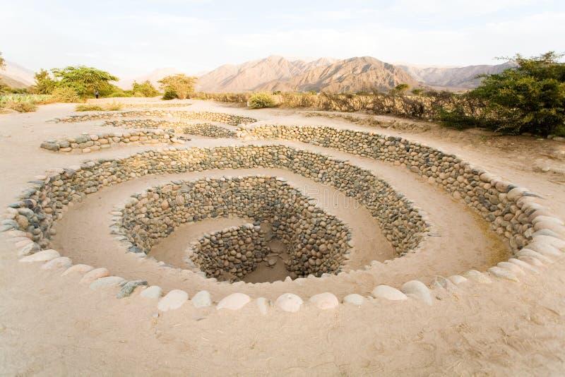 Aquädukte nähern sich Nazca, Peru lizenzfreies stockfoto