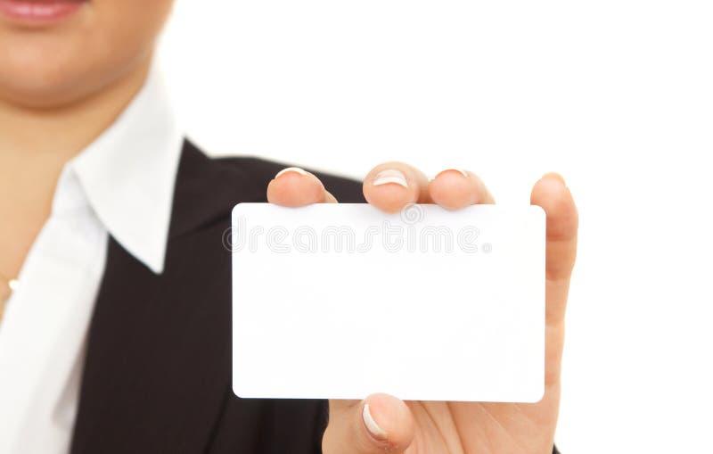 Aquí está mi tarjeta de visita fotos de archivo libres de regalías