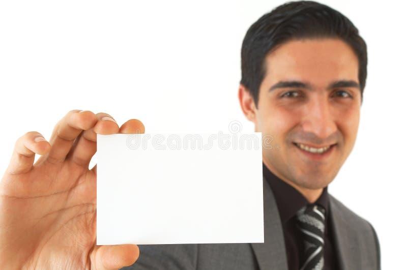 Aquí está mi tarjeta de visita imagen de archivo libre de regalías