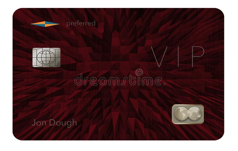 Aquí está un VIP o una tarjeta de crédito preferida del cliente ilustración del vector