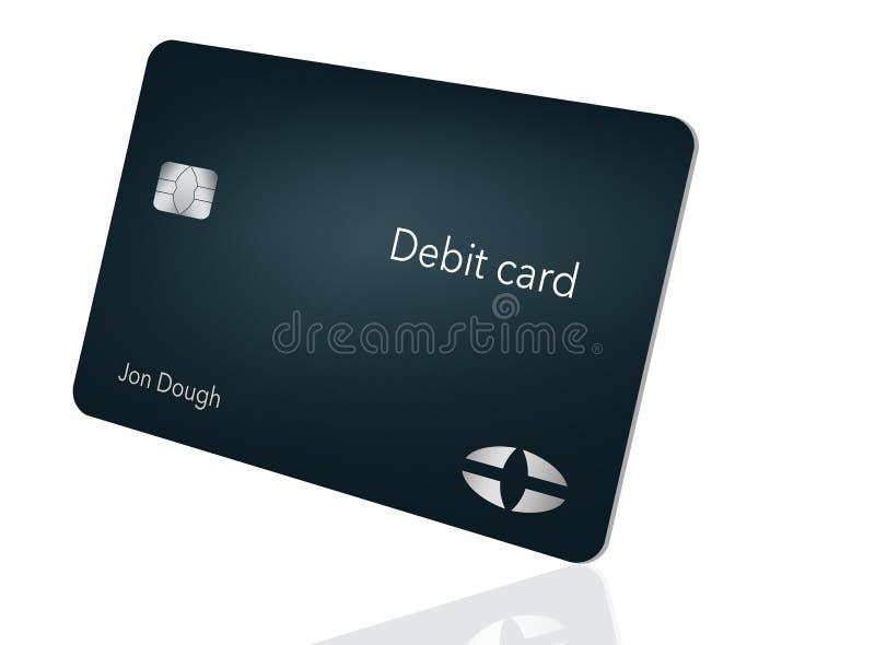 Aquí está una tarjeta de débito moderna y elegante del banco Es un ejemplo y es falso y genérico evitar cualquier problema con ma ilustración del vector