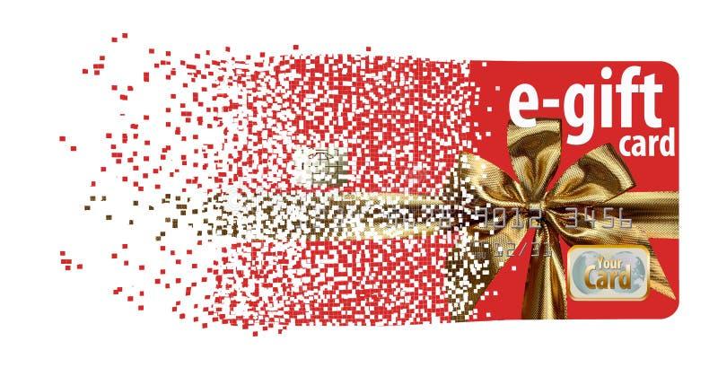 Aquí está una tarjeta del e-regalo stock de ilustración