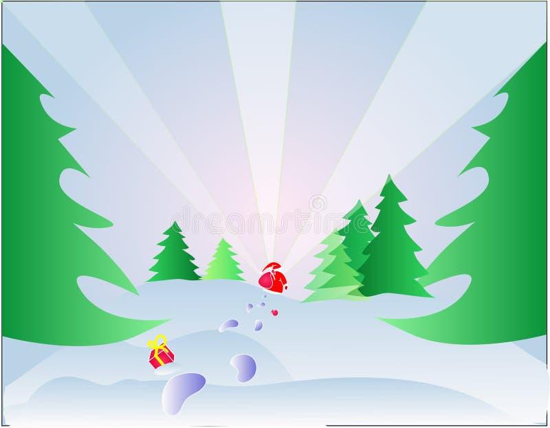 Aquí va Santa stock de ilustración