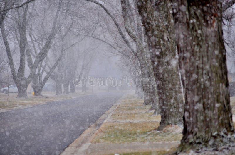 Aquí viene la nieve imagen de archivo libre de regalías