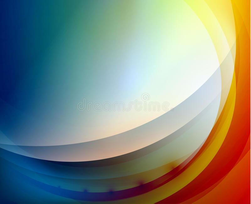 Aqua развевает абстрактная предпосылка иллюстрация вектора