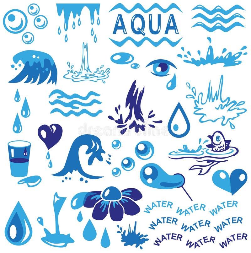 Aqua ilustração stock