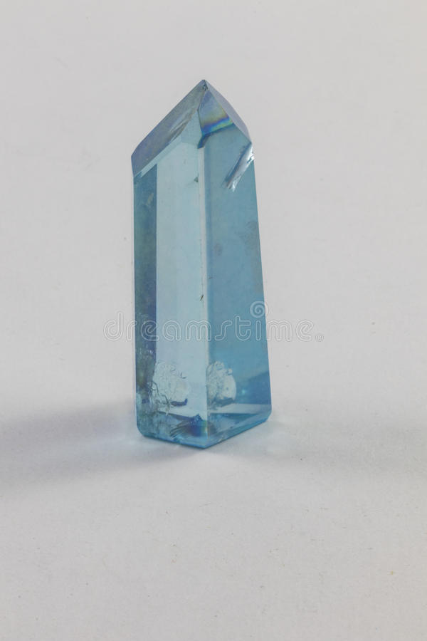 Aqua Aura Terminated Crystal stockfotos