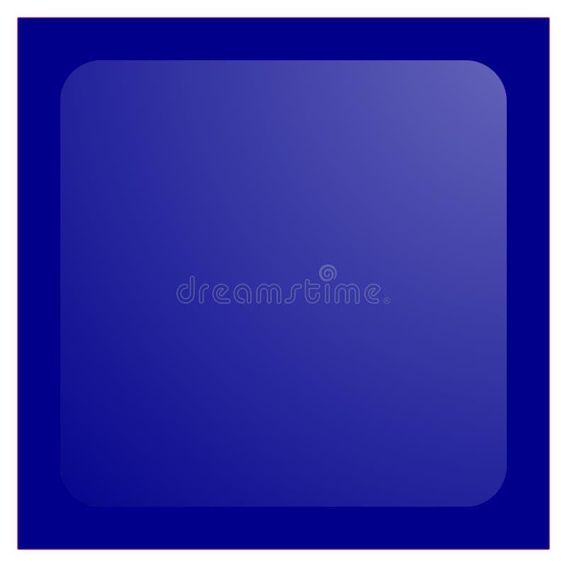 aqua błękitny guzika zmroku kwadrat royalty ilustracja