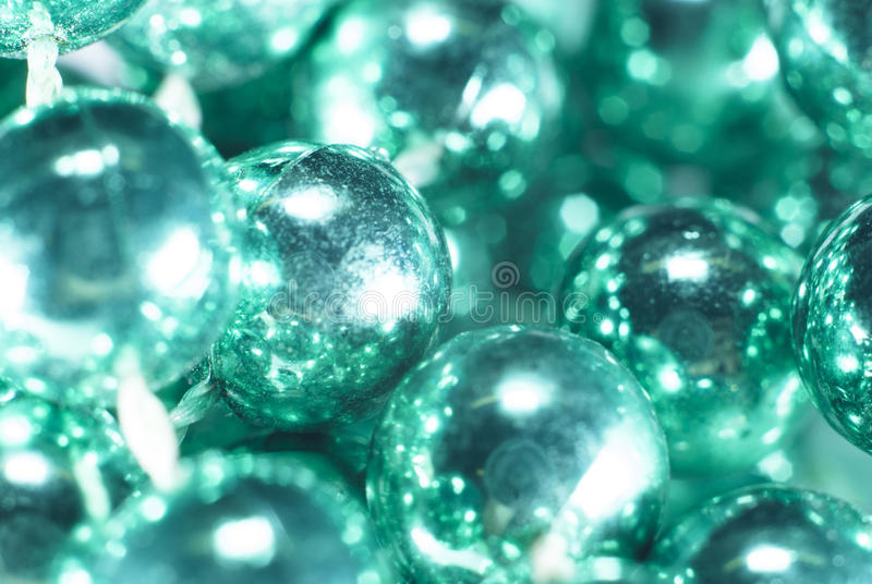 Aqua Beads Close vers le haut de fond photographie stock
