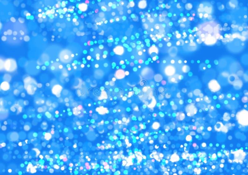 Aqua blänker bakgrund Bokrh bakgrund royaltyfria bilder
