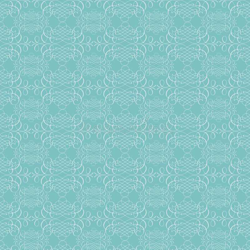 Aqua blue calligraphy flourish texture pattern. Background royalty free illustration