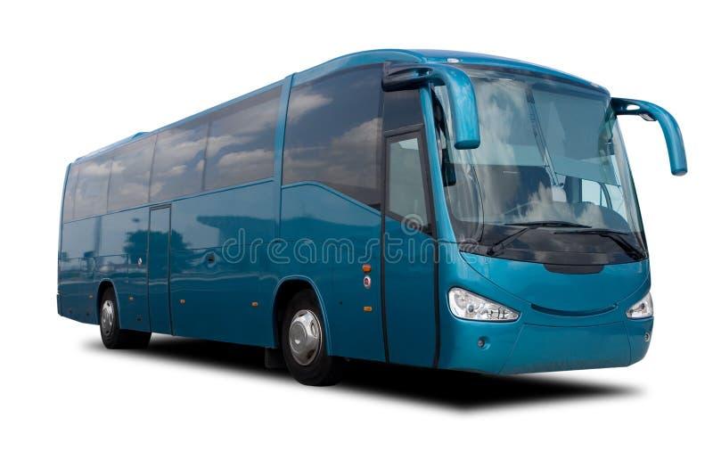 Aqua Blue Tour Bus royalty free stock photography