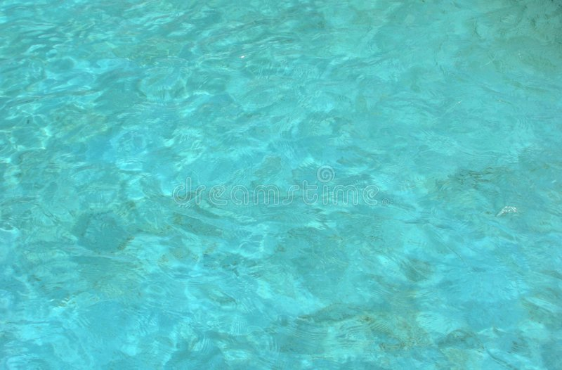 Aqua blue Water clean stock photography