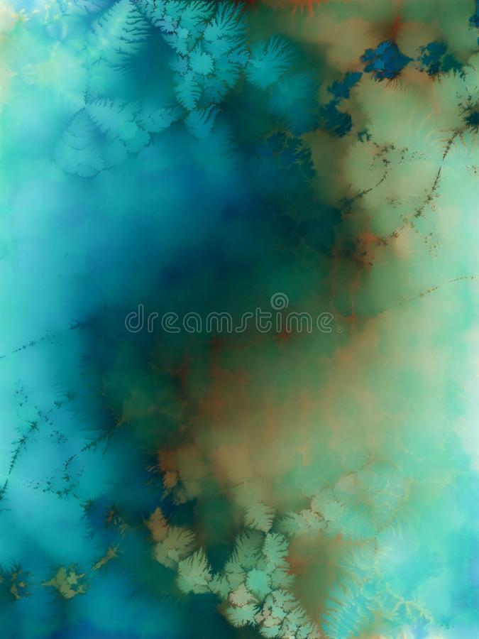 Aqua Blue Watercolors Texure Art Free Stock Images