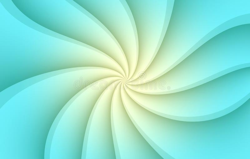 Aqua blue and white spinning spiral  curves abstract wallpaper background illustration. Computer generated abstract wallpaper background illustration featuring stock illustration