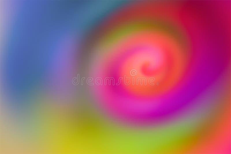 Aqua blur background blur colorful vortex mixing gradient color pink lilac green red glimpses artistic design vector illustration