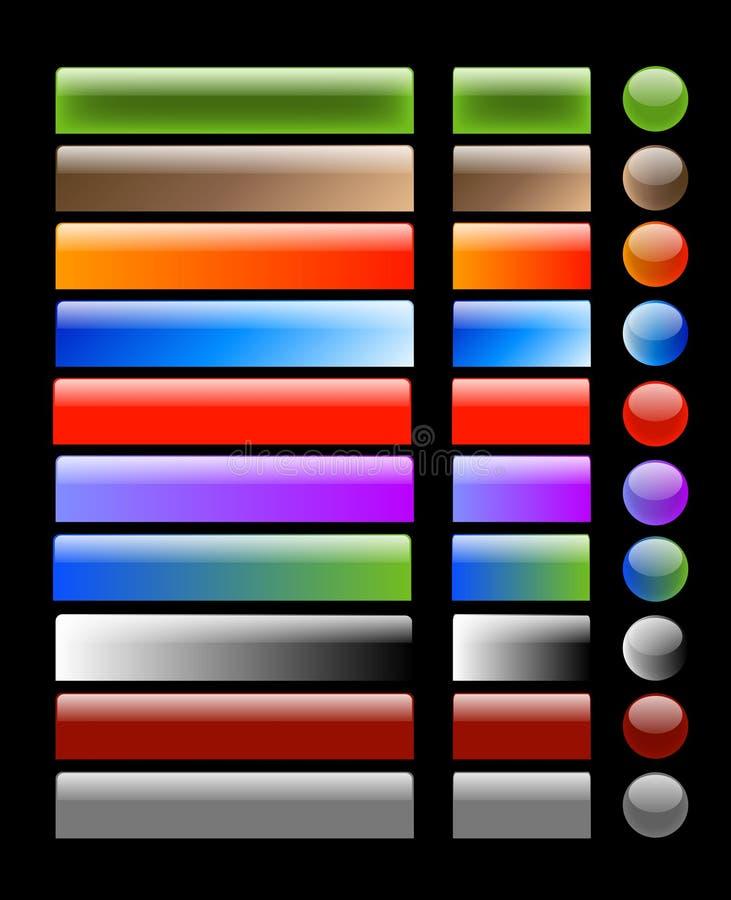 Aqua/boutons en verre de Web illustration libre de droits