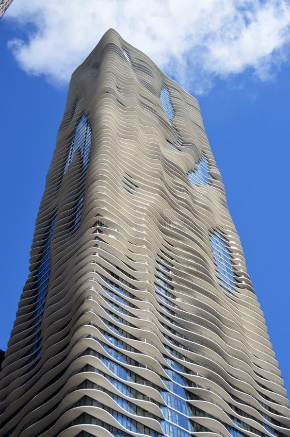 Aqua Building stockbilder