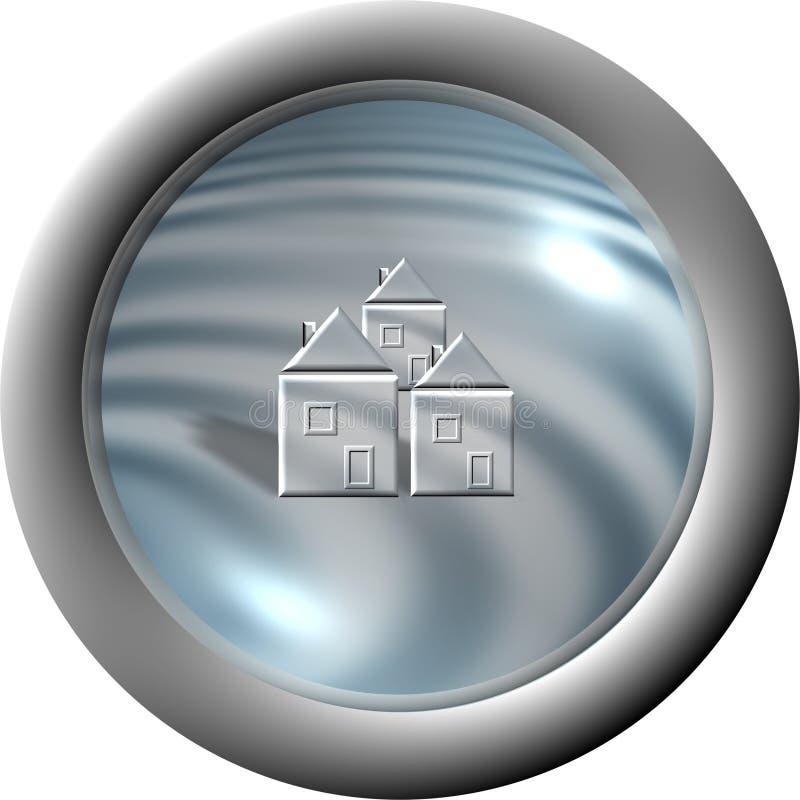 Aqua button 'Commune' royalty free illustration