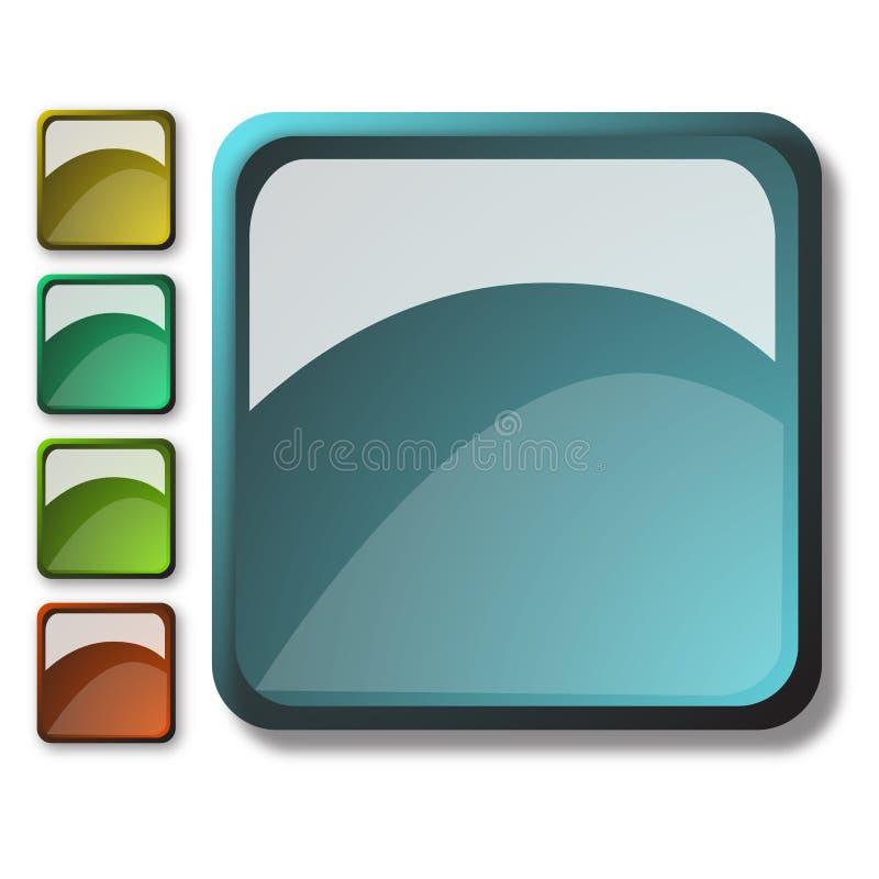 aqua buttons stilrengöringsduk vektor illustrationer