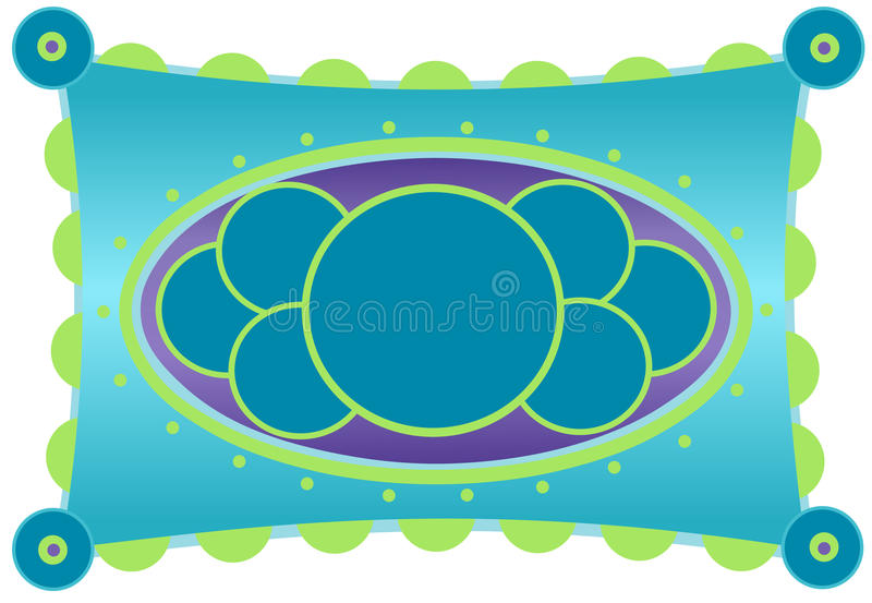 Aqua and Citron Colorful Frame. Illustration of an aqua and citron green colorful frame, on a white background vector illustration