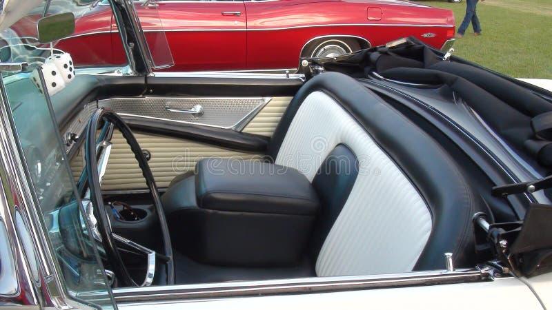 Aqua Classic Car Convertible com dados imagem de stock