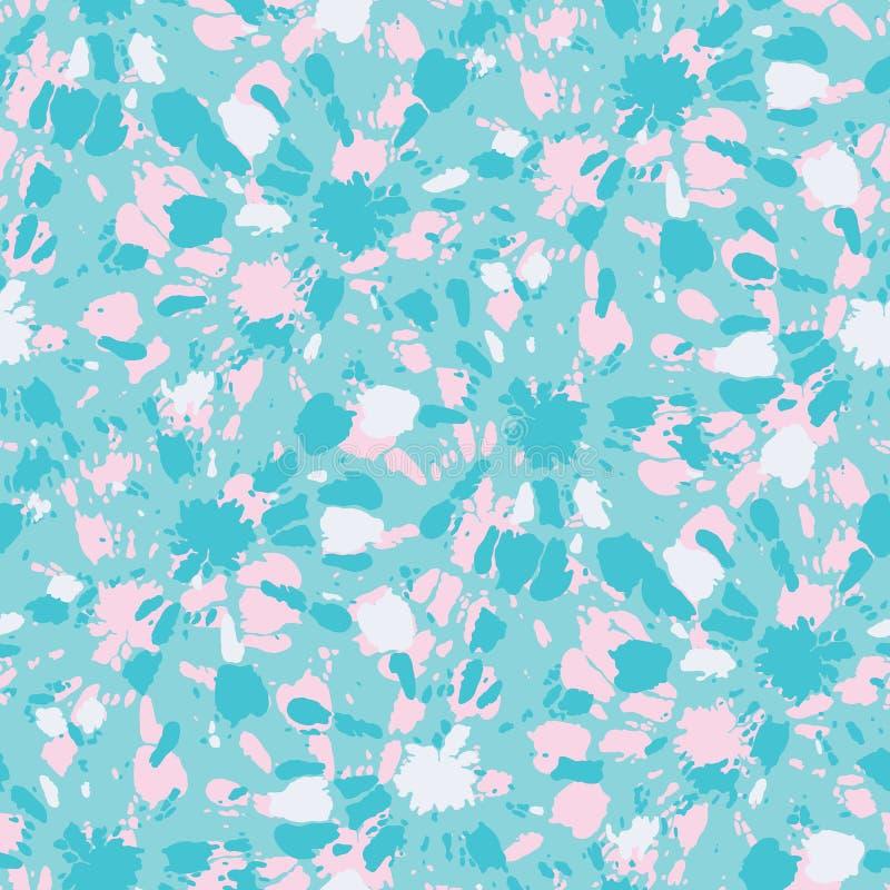 Aqua colorido e teste padrão sem emenda do vetor Sunburst cor-de-rosa dos círculos de Shibori da Laço-tintura ilustração stock