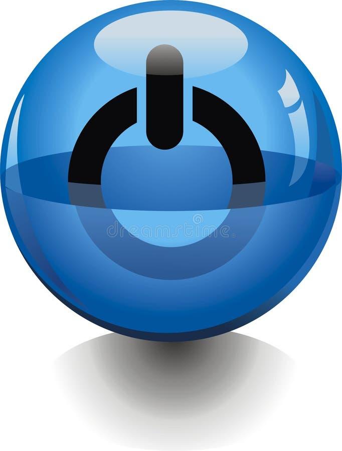 Aqua del botón stock de ilustración