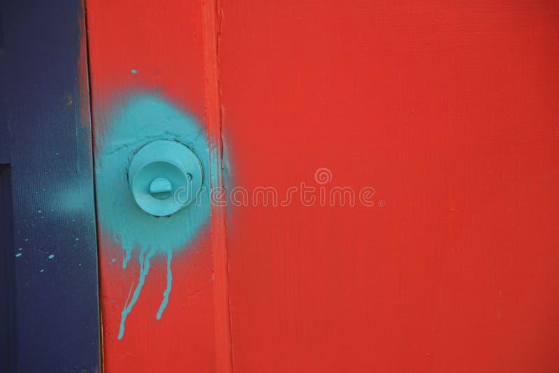Aqua Door Knob in Portland, Oregon stock images