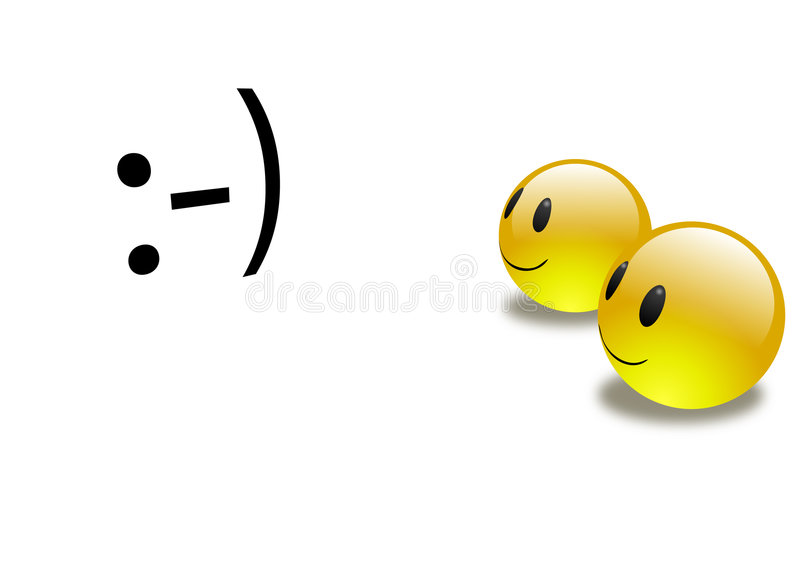 Download Aqua Emoticons 3d Meet 2d stock illustration. Image of emoticon - 8079775