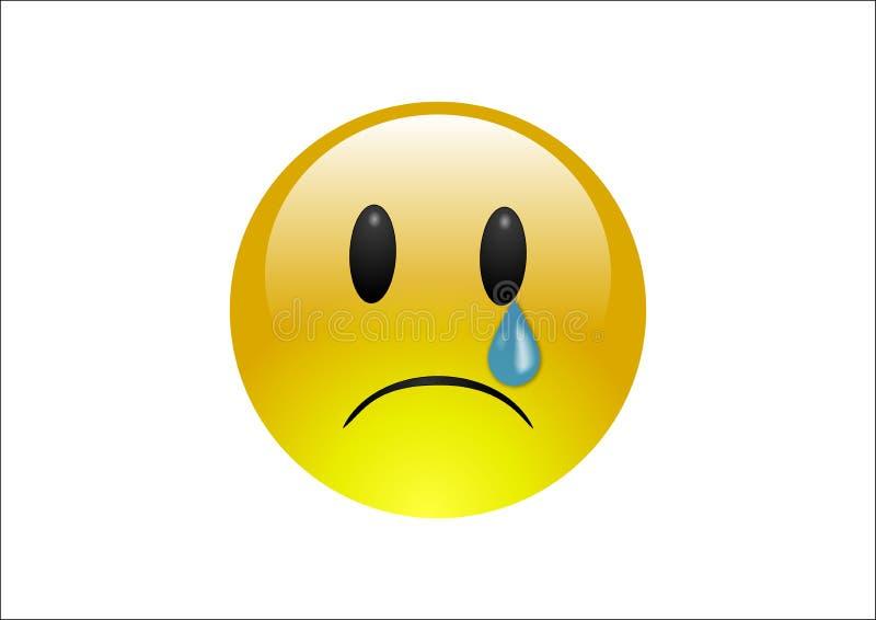 Download Aqua Emoticons - Cry stock illustration. Illustration of glossy - 6136570