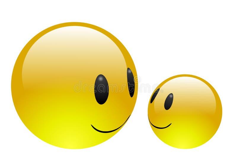 Aqua Emoticons - Vriendschap [afwisselende versie] stock illustratie