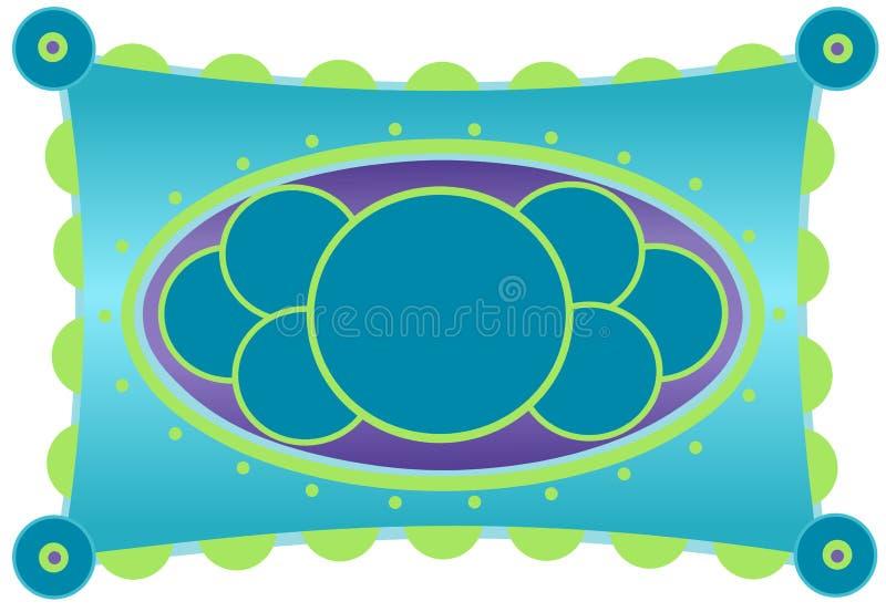 Aqua en Citron Kleurrijk Kader vector illustratie