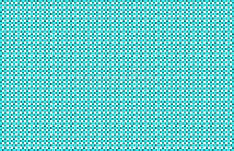 Aqua et fond blanc d'armure de panier illustration stock