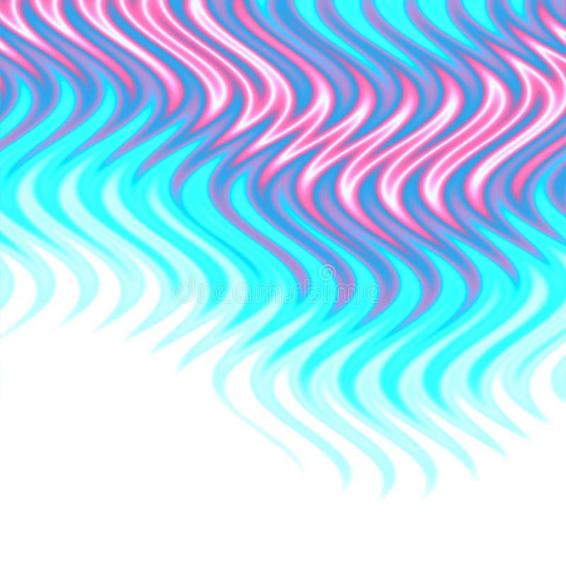 Aqua flames background stock illustration