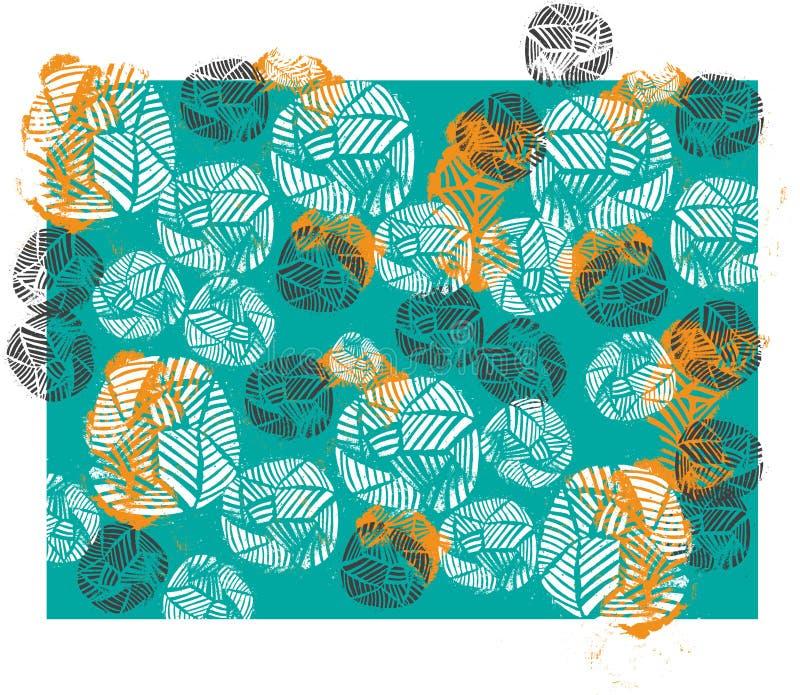 Aqua gabckground with pattern stock image
