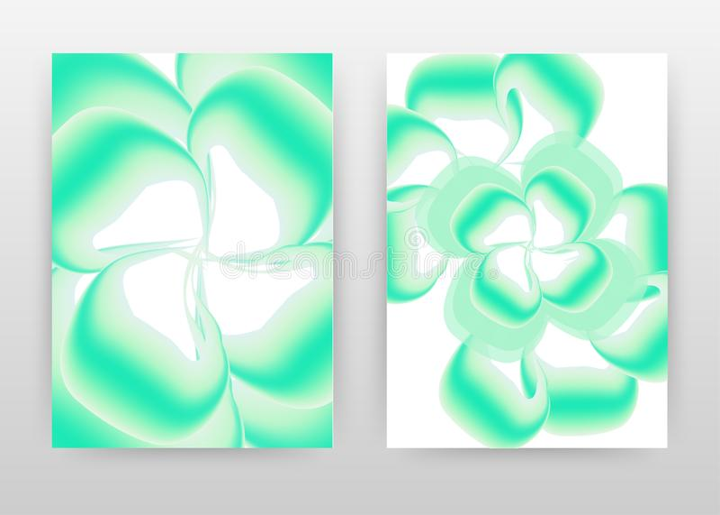 Aqua green flower petal concept design of annual report, brochure, flyer, poster. Green background vector illustration for flyer,. Leaflet, poster. Business stock illustration