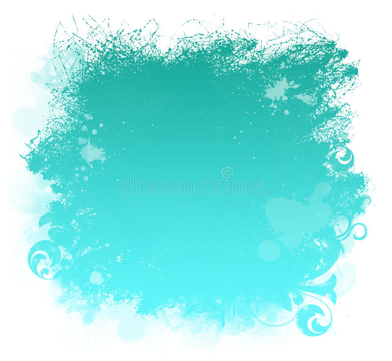 Download Aqua Grunge Paint Smear Background Stock Illustration - Image: 15830961