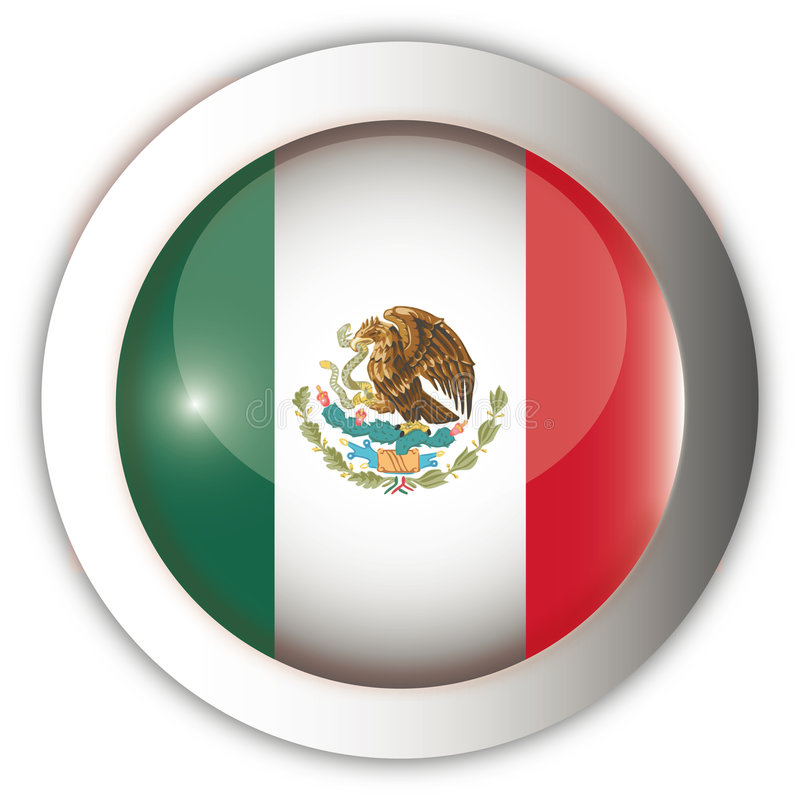aqua guzik flagą Meksyku royalty ilustracja