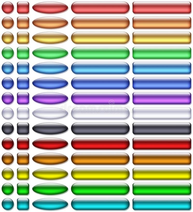 aqua guziki barwią gel ilustracja wektor