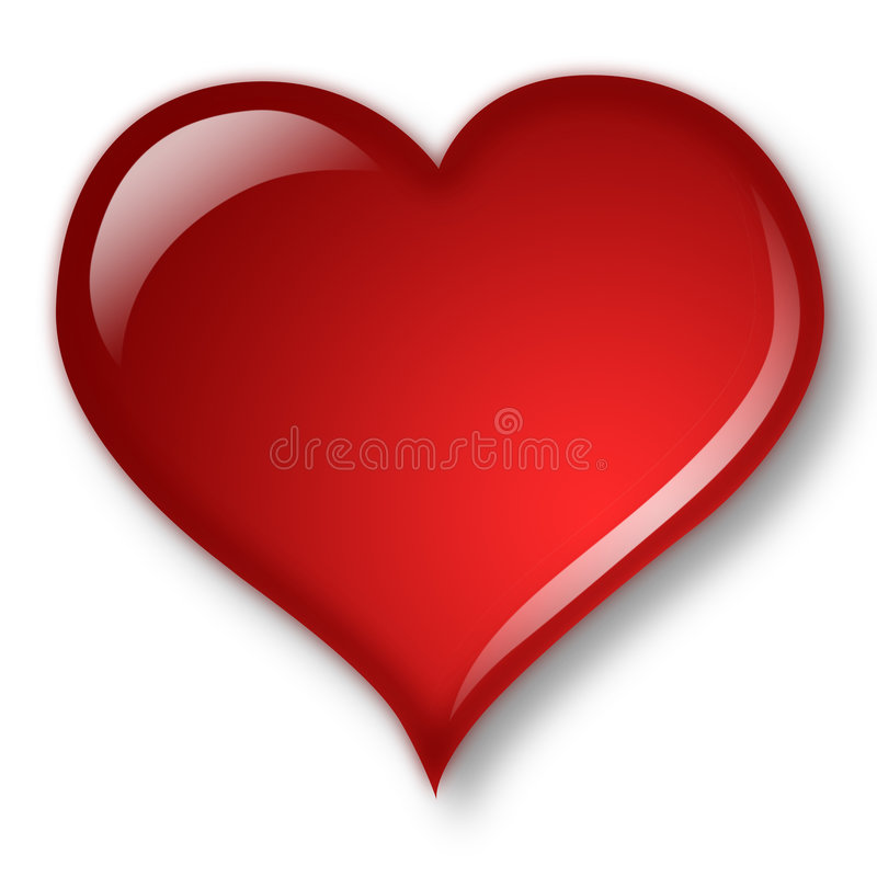 Aqua heart stock image